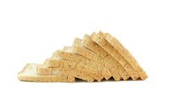 Brot auf weißem Hintergrund Lizenzfreie Stockfotografie