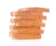 Brot auf weißem Hintergrund Stockbilder