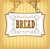 Brot. Bäckerei. Aufkleber, Satz für Brot stock abbildung