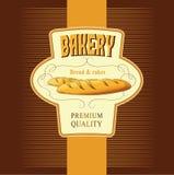 Brot. Bäckerei. Aufkleber, Satz für s lizenzfreie abbildung