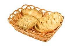 Brot in den Körben Stockbilder