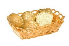 Brot in den Körben Stockfoto