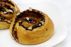 Brot in der Schokoladengebirgsform Stockbilder