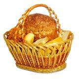 Brot in einem Korb Lizenzfreies Stockbild