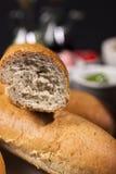 Brot für Käsefondue Stockbild