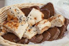 Brot, flaches des Lebensmittels, geschmackvollen und gesunden Lebensmittel des Kuchens, Lebensmittel stockbild