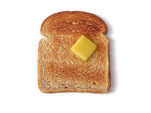 Brot: Geröstet zur Verkollkommnung (Pfad eingeschlossen) Lizenzfreies Stockfoto