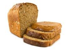 Brot getrennt auf einem Weiß Stockfotos