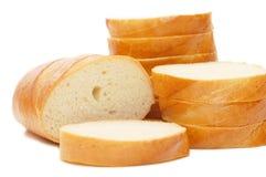Brot getrennt auf weißem Hintergrund stockfoto