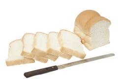 Brot getrennt auf weißem Hintergrund Lizenzfreies Stockbild