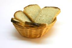 Brot im Brotkorb stockfotografie