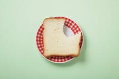 Brot mit Bissen Lizenzfreies Stockfoto