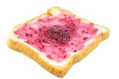 Brot mit Blaubeermarmelade Stockbilder