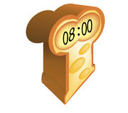 Brot mit Borduhrgraphik Lizenzfreie Stockbilder
