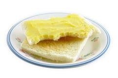 Brot mit Butter Lizenzfreie Stockfotos