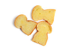 Brot mit Butter Stockfotografie