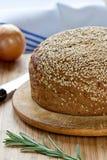 Brot mit einem indischen Sesam Stockfotografie
