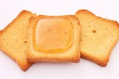 Brot mit Honig Lizenzfreies Stockbild