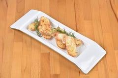 Brot mit Knoblauch Stockfoto