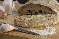 Brot mit Knoblauch lizenzfreies stockbild