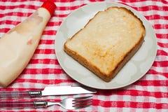 Brot mit Mayo stockfotografie