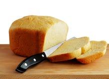 Brot mit Messer Stockbilder