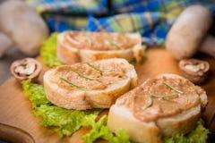 Brot mit Pastete Lizenzfreies Stockbild