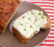 Brot mit Quark stockbilder