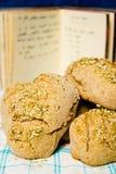 Brot mit Rezept Lizenzfreies Stockbild