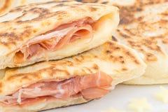 Brot mit Schinken Lizenzfreies Stockbild