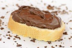 Brot mit Schokoladencreme Lizenzfreie Stockfotografie