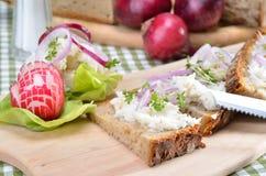 Brot mit Schweinefett Stockfotografie