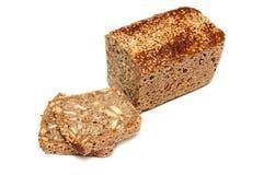 Brot mit Sonnenblumensamen und Kürbisstartwerten für zufallsgenerator Lizenzfreies Stockfoto
