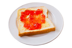 Brot mit Stau stockfotografie