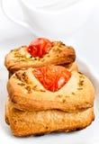 Brot mit Tomaten und Oregano Lizenzfreies Stockbild