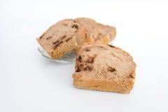 Brot mit Walnüssen und Schokoladensplittern Lizenzfreie Stockfotos