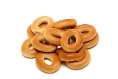 Brot-Ringe getrennt auf Weiß Lizenzfreie Stockfotos