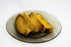 Brot um den Kopf Stockbild