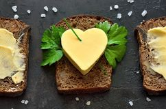 Brot und Butter lizenzfreies stockbild