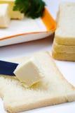 Brot und Butter Stockbild