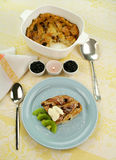 Brot-und Butterpudding Lizenzfreies Stockbild