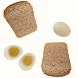 Brot und Eier Stockfotos