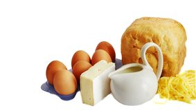 Brot und Eier Stockfotografie