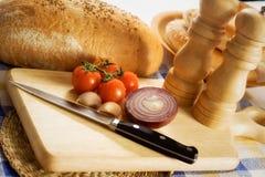 Brot und Gemüse Stockfotos