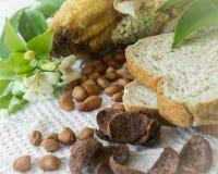 Brot und Getreide Stockfotos