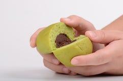 Brot und grüner Tee Stockbild