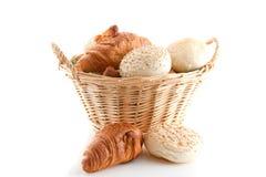Brot und Hörnchen lizenzfreie stockfotos