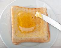 Brot und Honig Lizenzfreie Stockfotos
