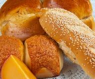Brot und Käse Stockfoto