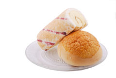 Brot und Kuchen Stockbild